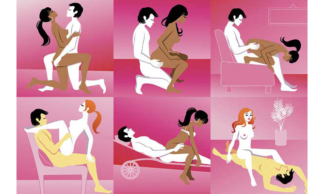 Four positions for small car sex
